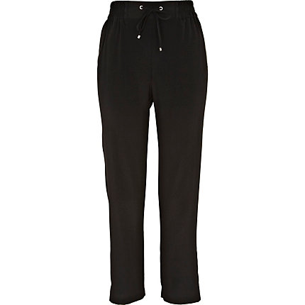 Black drawstring pants