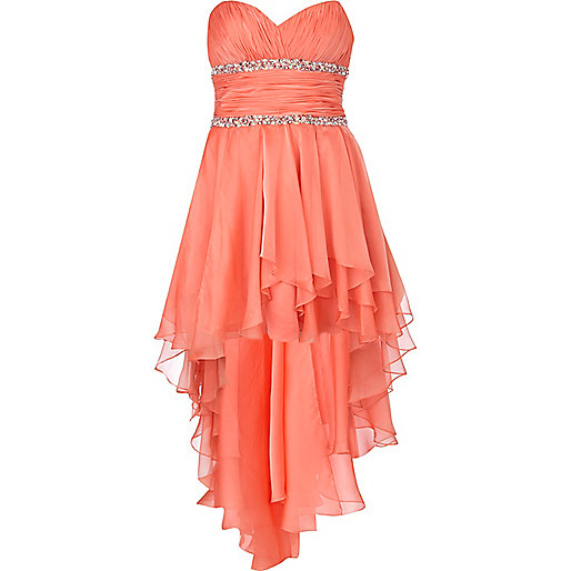 Coral forever unique prom dress