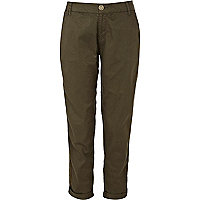 Dark green chinos