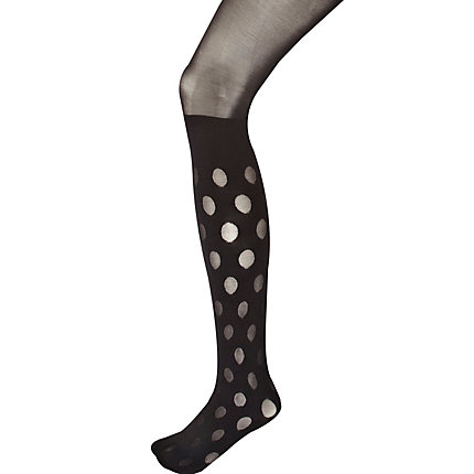 Black House of Holland polka dot mock tights