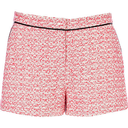 Pink tweed shorts