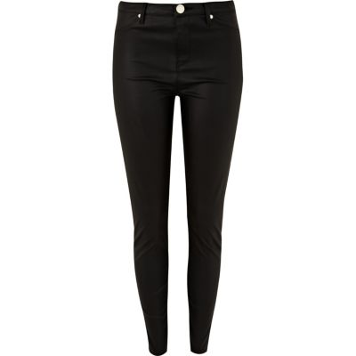 Black leather look Molly jeggings