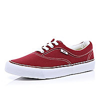 Dark red plimsolls