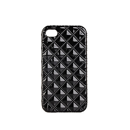 Black quilted iPhone case