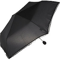 Black lace trim umbrella