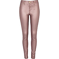 Dusty pink metallic Molly jeggings