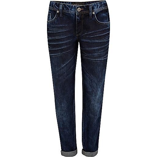 Dark denim Cassie low rise boyfriend jeans