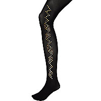 Black Pretty Polly embellished tights