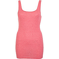 Bright pink scoop neck vest