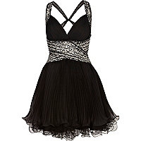 Black Forever Unique embellished dress