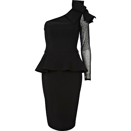 Black Forever Unique peplum dress