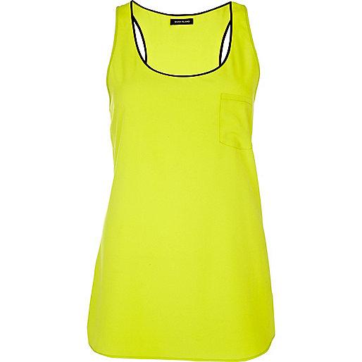 Lime longline vest