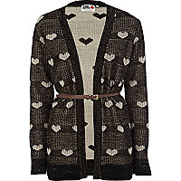 Black heart print Chelsea Girl cardigan