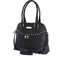 Black zip front bag