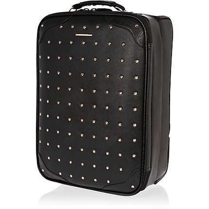 Black studded suitcase