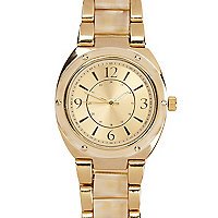 Gold tone classic bracelet watch