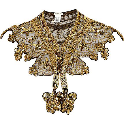 Gold luxury embellished collar