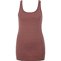Dark red scoop neck vest