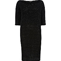 Black glitter jumper dress