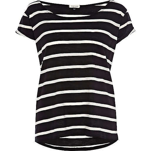 Black stripe boxy t-shirt