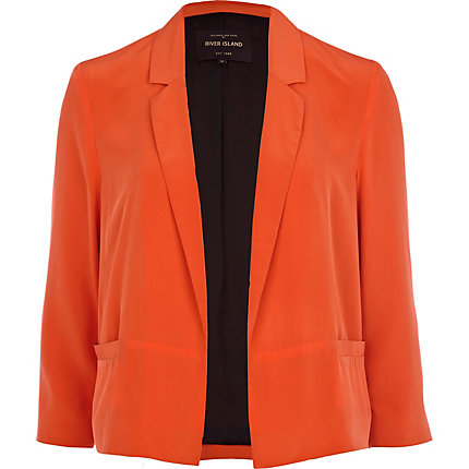 Bright orange blazer