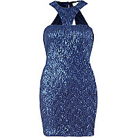 Blue Lashes of London sequin dress
