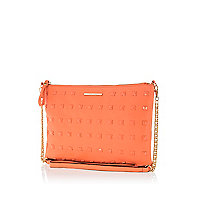 Coral studded cross body bag