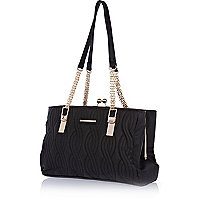 Black quilted frame bag