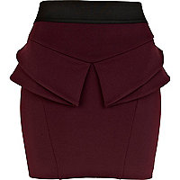 Dark purple peplum skirt