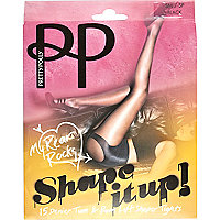 Black Pretty Polly bum and tum shaper tights