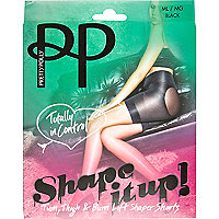 Black Pretty Polly shaper short tights