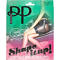 Beige Pretty Polly shaper short tights