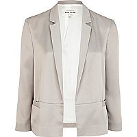 Grey unfastened blazer