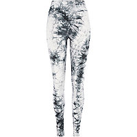 Grey tie dye high waisted leggings