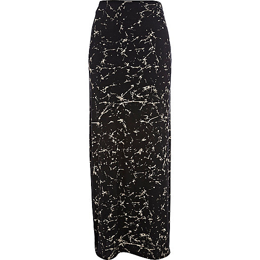 black print split side maxi skirt skirts sale