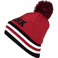 Red New York beanie