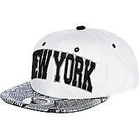 White snake peak New York snapback hat