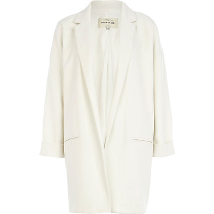 Cream boyfriend blazer