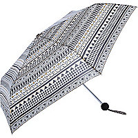 Black Aztec print umbrella