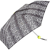 Black and white snake print fluro umbrella