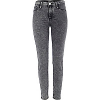 Black acid wash Molly jeggings