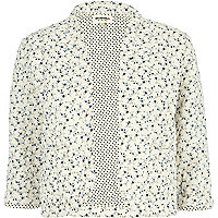 Cream Chelsea Girl ditsy print bed jacket