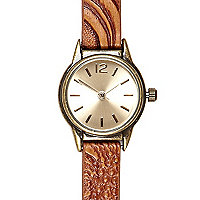 Brown western watch