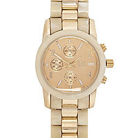 Cream and gold tone RI watch