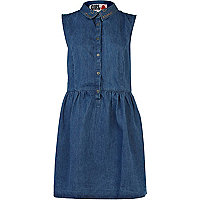 Mid wash Chelsea Girl denim shirt dress