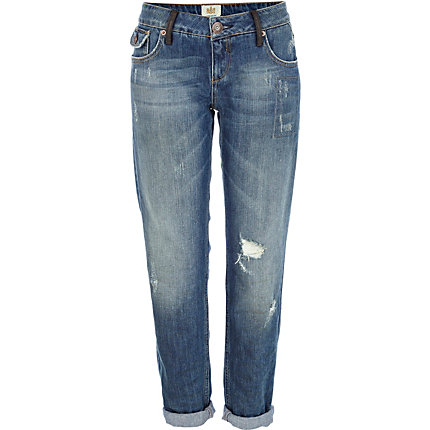Mid wash distressed Cassie boyfriend jeans