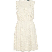 Cream Chelsea Girl frill lace dress