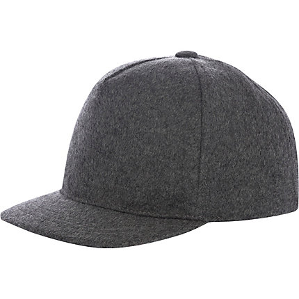 Grey felt smart trucker hat
