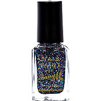 Amethyst glitter Barry M nail varnish