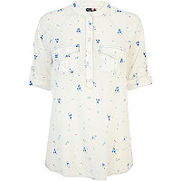 White floral Chelsea Girl shirt